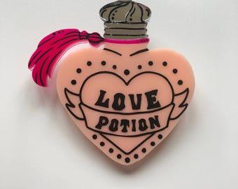 Love Potion Brooch - Harry Potter - Weasleys' Wizard Wheezes - Laser Cut Acrylic Brooch