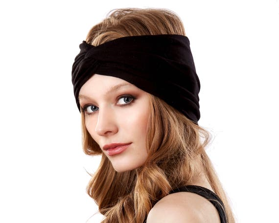 Turban Headband Women Adult Headband Black Headband Wide Headband Evening Headband Retro Headband Soft Headband Women's Headband Turban Hat