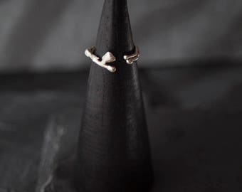 Sterling silver wrap ring / Organic ring / Unrefined ring / Modern ring /