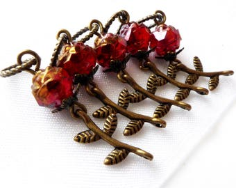 NEW - Tango Delle Rose - Five Handmade Stitch Markers - Fits Up To 5.0mm (8 US) - Limited Edition