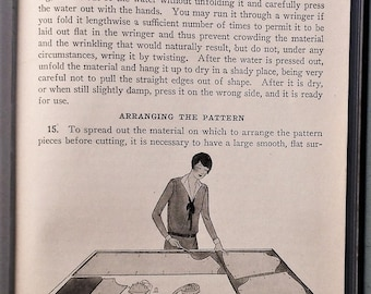 Cutting and Fitting - Woman's Institute of Domestic Arts & Sciences - vintage 1920s 1930s dressmaking book - 20s 30s sewing book