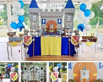 Backdrop: Medieval Castle Printable Banner Backdrop Standees, Prince Castle Backdrop Banner, Knights Standees HIGH RESOLUTION Digital Files