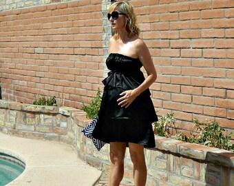 Maternity-Linen Dress-Linen Dresses for Women-Linen Dress Woman-Linen Dress Women-Dresses-Black-White-Tissue Linen-Bridget Style-XS-XL