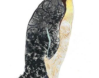 Penguin Open Edition // home decor// Art Print// Winter // Black and White art  5x7, 8x10, 11x14, or 13x19
