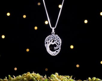 Sterling Silver Tree of Life Pendant - Double Sided - (Pendant, Necklace or Earrings)