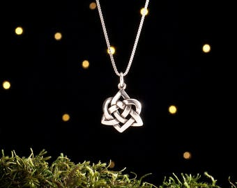 Sterling Silver Celtic Heart Knot - (Pendant or Necklace)