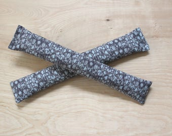 Organic Lavender Sleep Sachets, Grey Pebble Nature Decor, Cotton Anniversary Gift