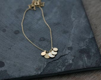 Sequins Galore in Silver or 18kt gold-plated necklace