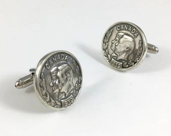 Crown Cuff Links, King Cuff Links, Crown Cufflinks, Silver Cufflinks, Vintage Cuff Links, British Cufflinks, Husband Gift, Groom Gift