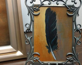 Raven Feather Painting (small primary)