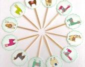 Llamaste cupcake toppers. Llama party. Llama Cupcake Toppers. Llama Baby Shower. Llama party supplies. La la llama. Llama decor. Llama drama