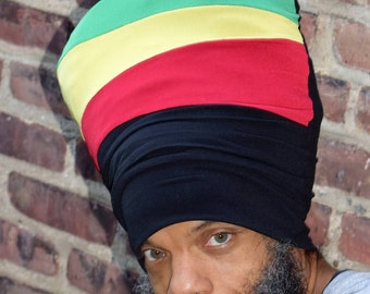 Imon Stretch Hat - Locs Hat - Rasta Hat - 5 Length Options