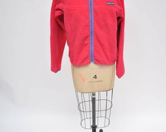 vintage patagonia fleece PINK retro 1990s small