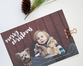Custom Holiday Cards, Christmas Cards, Elegant, Simple, Photography, Photo Card, Modern, Personalized, Holidays - Merry Christmas Card