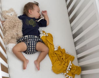 Triple Leaf Navy Onesie // Baby Boy Leaf Infant Shirt// Embroidered Kid Top // Boy's Summer Top// Modern Boy's Clothing// Boho Baby