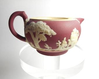 Wedgwood Small Creamer Red / Crimson Jasperware 1898
