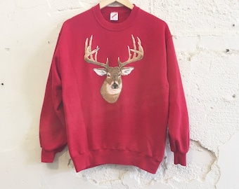 1980's Red Deer Sweatshirt
