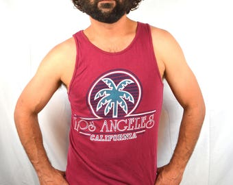 Vintage 80s 90s Los Angeles LA California Tank Top