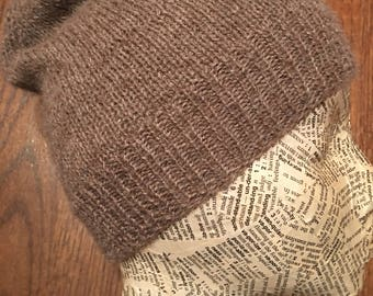 Angora-Alpaca Hand Knit Hat