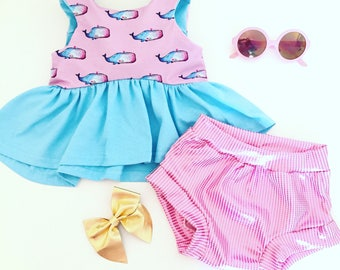 Whales Dress, or Crop top