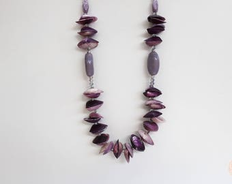 One off Design - Purple Shell Necklace.