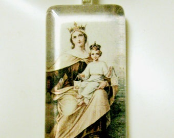 Our Lady of Mount Carmel pendant with chain - GP01-016