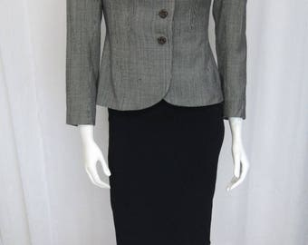 1930's-1940's light weight micro checked wool jacket from Sally's Salem OR size small