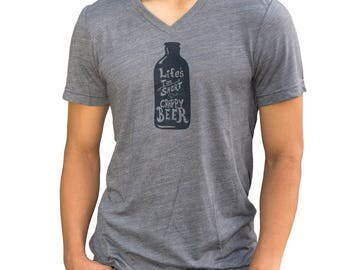 Beer| Soft Lightweight T Shirt| Life's too short for crappy beer| Art by MATLEY| Men's Unisex tees| Gift for him & her| Beer fest| Fitted.