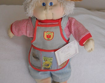 Rare Cabbage Patch Kid Limited Opal Edition, Garden, Gardener, Boy, Stan Fabian, Overalls, Vintage, Collectible, 1385 X / '90