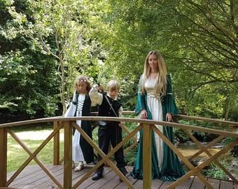 Alexandra, a Medieval, Elvish, Pagan Custom Made Handfasting Dress