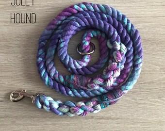 Galaxy Rope Dog Lead / 8mm rope leash / rope lead / dog lead / dog leash / rope dog lead / puppy lead/ soft lead / tie dye / dyed lead