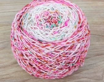 Hand dyed speckled gradient sock yarn