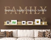 Family Wall Decal with names - Personalized Decal - Gallery Wall Decor