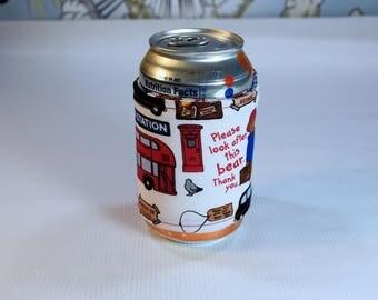 Paddington Bear Can/Bottle Cozy/Home Decor/ Housewarming Gift/ Kitchen Decor/ Hostess Gift/ Wedding Gift/ Gift for her/ Fun gift