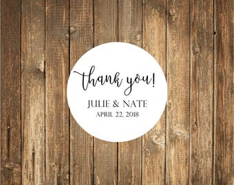 Thank you Wedding Favor Stickers-Wedding Favor Tags