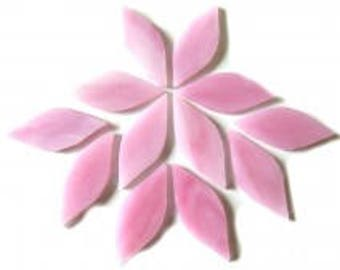 20pc. 38mm Cotton Candy Pink TIFFANY Stained Glass Petal Shaped Mosaic Tiles//Mosaic Supplies//Mosaic Pieces//Crafts
