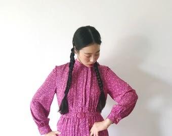 Blueberry picker, vintage dress, Japan, small - medium