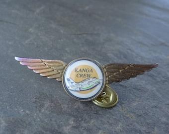 Rare - Vintage Australian Kanga Crew Airline Wings Pin - Airlines Badge - Australian Ansett Airlines Badge - Vintage Airlines Tie Tack