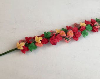 Miniature Autumn Leaves Vine, Autumn Garland, Dollhouse Miniature, 1:12 Scale, Dollhouse Accessory, Decor, Fall Decor, Floral, Crafts