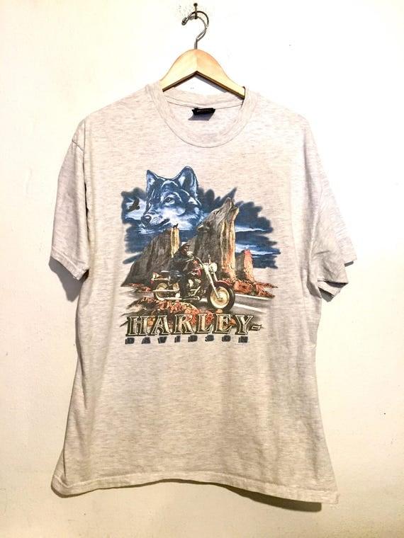 90s Vintage Harley Davidson Fairbanks Alaska Tee Shirt