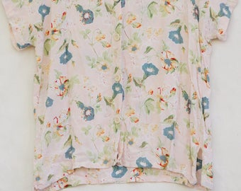 Vintage 90s Floral Print Top By Rosey Tomato/Boho/Retro