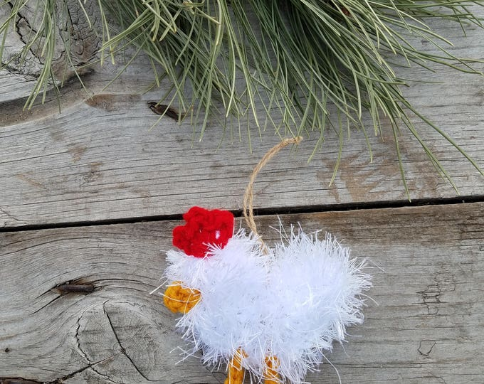 Ready to Ship,Chicken Ornament,Farm Christmas Ornament,Silkie Chicken,Frizzle Chicken,Christmas Chicken,Farm Christmas,Chicken Egg,Chicken