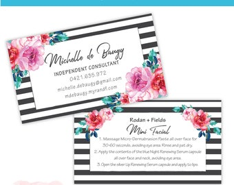 Rodan and Fields Business Card - Business Card / Preferred Customer Referral Card / PC Perks Card