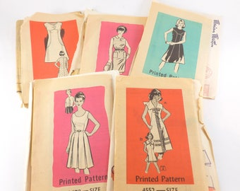 Mail Order Sewing Patterns Lot Marian Martin Let's Sew Women's Sleeveless Dresses Uncut