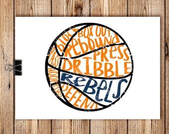 Basketball - REBELS SCRIBBLE BASKETBALL