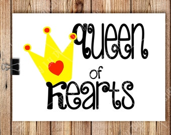 VALENTINES - Queen of Hearts Cards - PRINTABLE Valentine Cards