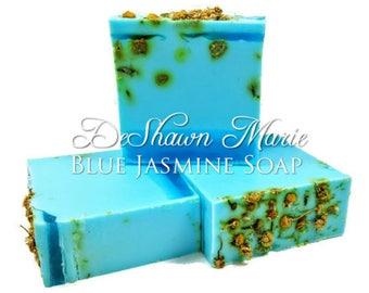SOAP 3.5lb Blue Jasmine Soap Loaf, Handmade Soap Loaf, Vegan Soap, Wholesale Soap Loaf, Christmas Gift, Floral Soap, Chamomile Soap, Favors