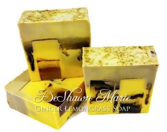 3.5 lb Soap Loaf, Ginger Lemongrass Soap, Handmade Soap. Vegan Soap, Soap Gift, Christmas Gift, Soap Favors, Christmas Soap, Wholesale