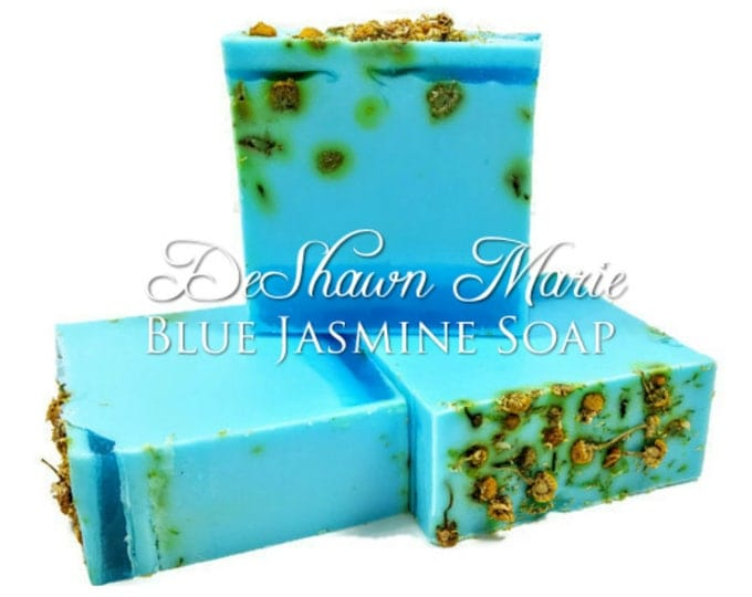 SOAP - 3lb Blue Jasmine Soap Loaf, Handmade Soap Loaf, Vegan Soap, Wholesale Soap Loaf, Christmas Gift, Floral Soap, Chamomile Soap, Favors