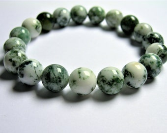 Tree Agate - 10 mm round beads - 19 beads - 1 set - A quality - HSG83